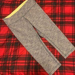 Lululemon Mid-Rise Cropped Leggings Grey Size 8